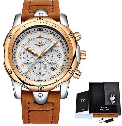 Relógio Masculino Lige 9862 Multifuncional