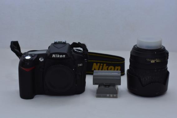 Câmera Nikon D90 + Lente 18-105 + 2 Baterias