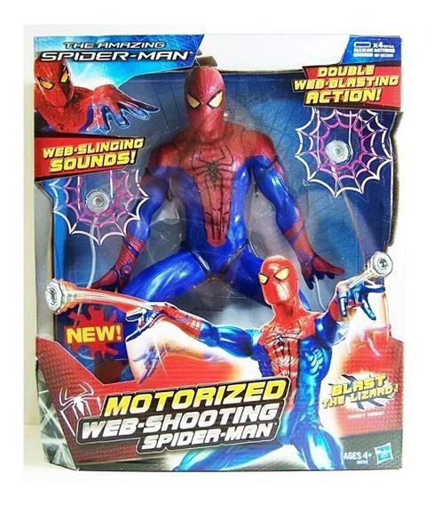 Spiderman Figura Lanza Telaraña Con Sonido Original Hasbro