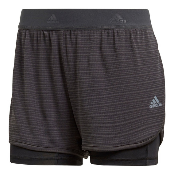Short adidas 2 In 1 Chill Gri Carbon De Mujer