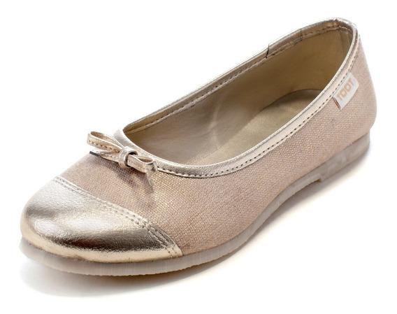 Ballerina Chatita Moños Dorada Toot Nº 27al 33 Charlotte