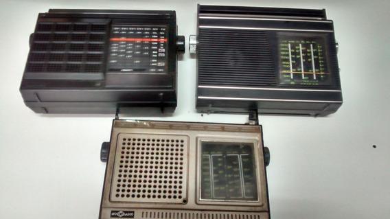 Lote 3 Radios Motoradio No Estado Sucata