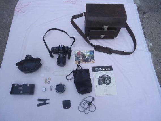 Rara Máquina Nikon Em - C/manual E Maleta Couro - Japan