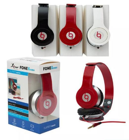 Fone De Ouvido Headphone Com Fio P2 Pc Celular Note Kp-313a