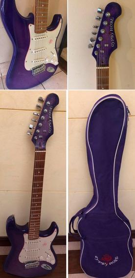 Combo Guitarra Electrica Violeta Rosa Gipsy