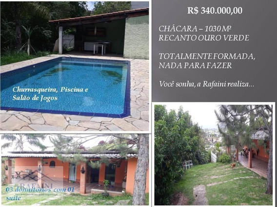 Mairiporã/sp - R$ 340.000,00 - Chácara Formada - Ch0002