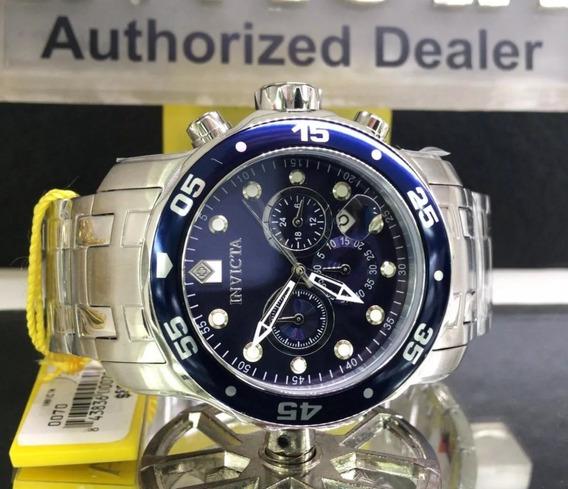 Relógio Invicta 0070 21921 Prata Fundo Azul 100% Original