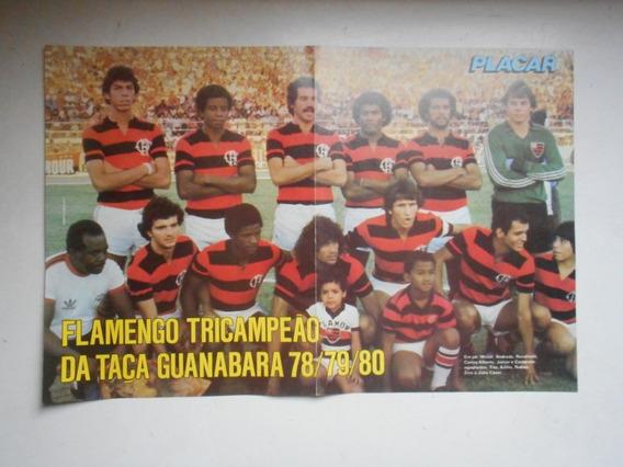 Pôster Placar - Flamengo Campeão Tricampeão Taça Guanabara