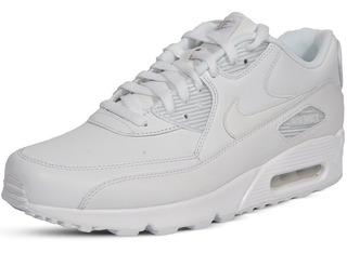 Original Hombre Tenis Nike Air Max 90 Piel Blanco Total Cha Tenisshop
