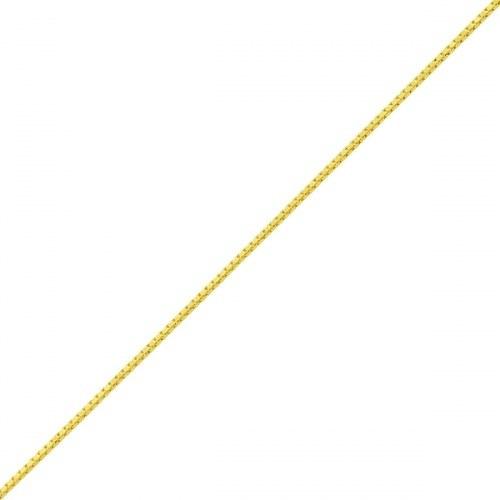 Tornozeleira De Ouro 18k Veneziana De 0,5mm Com 24cm To00119