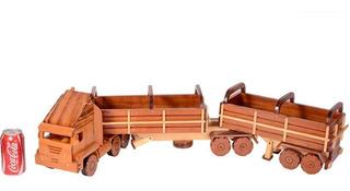 Caminhão De Madeira Miniatura Madeira Carreta Gigante Trem