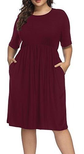 Alegria - Vestido De Coctel Cuello Redondo Talla Grande Para