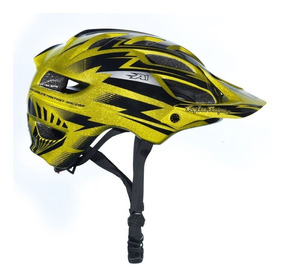 Capacete Ciclismo Bike Bicicleta Troy Lee A1 Cyclops Gold