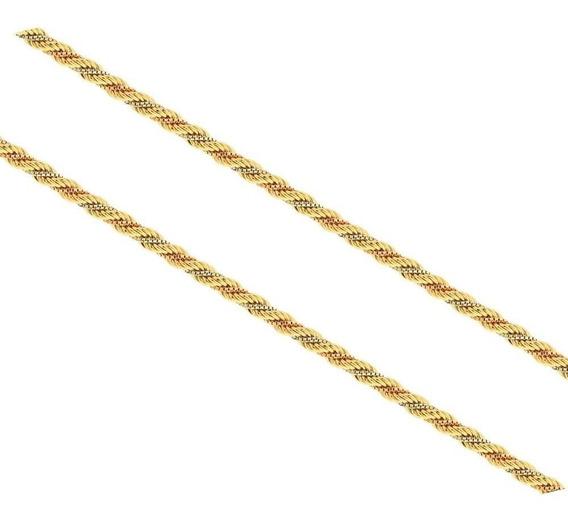 Cordao Ouro 18k Tricolor Co005