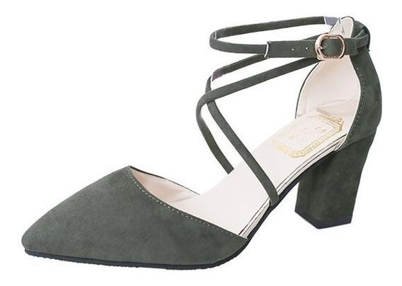 Sapato Alto Confortável Plataforma Grosso