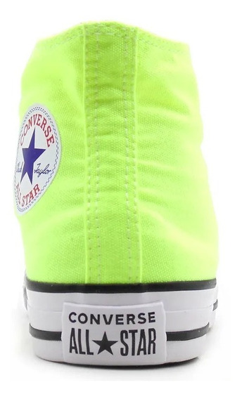 Tenis Converse All Star Ct Core Hi Bota Verde Neon