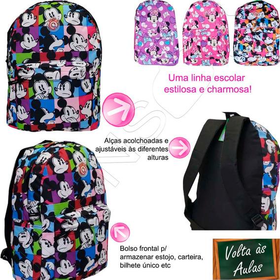 Mochila Escola Mickey Minnie Mouse Infantil Dsny 01819xfp