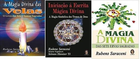 Kit 3 Livros Saraceni Magia Velas Ervas Escrita Magica Divin
