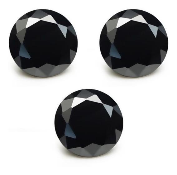 3 Moissainitas Diamante Negras 2.3ct 8.4mm Mossainita