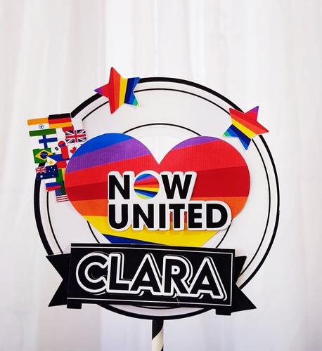 Topo De Bolo Topper Bolo Now United