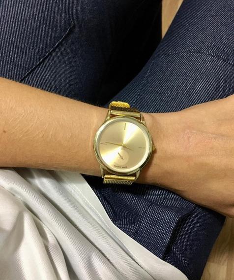 Relógio Feminino Social Dourado