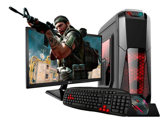 Pc Gamer A8 3.4ghz 10núcleos Ddr4 16gb R7 1tb+ssd Monitor Lg