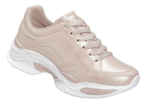 Tênis Feminino Azaleia Sneaker Rosa 100% Original
