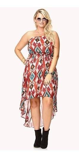 Vestido Strapless Forever 21+ Talle X1 Importado Usa - 3823