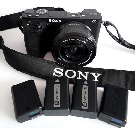 Camera Sony A6500 Com Lente 16~50m À Vista R$ 5.400
