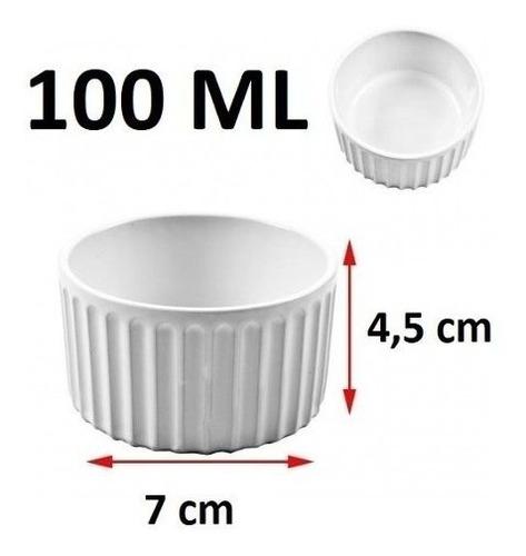 Imagem 1 de 7 de 12 Ramequins 100 Ml Porcelana Branco Suflê Pure Escondidinho