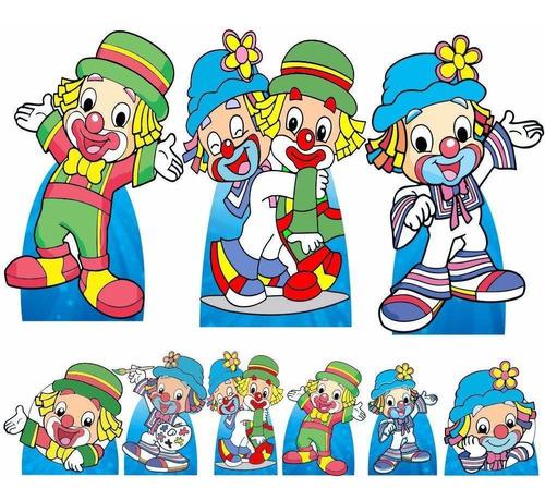 Imagem 1 de 5 de Kit Totem Festa Patati Patatá Infantil Mdf3mm 9 Peças