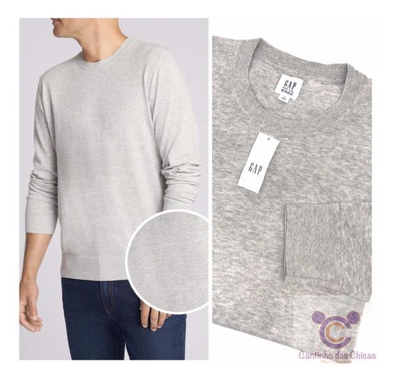 Blusa Malha Tricot Gap Masculina Plus Size Original Import