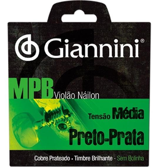 Encordoamento Para Violão Giannini Genwbs Serie Mpb Nylon