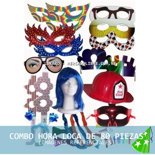 Combo Hora Loca Fiestas 80 Piezas Sombreros V15