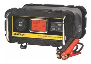 Cargador Batería 12v Carro Moto 15 Amperio Stanley Iniciador