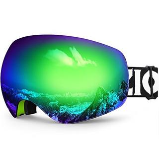 Snowboard De Esqui Zionor X10 Snow Goggles Otg Para Hombres