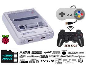 Videogame Super Famicom Retrô, 2 Controles , 12000 Jogos