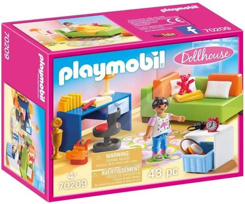 Playmobil Doll House 70209 - Dormitorio De Niños