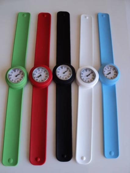 5 Relógios Unisex, Silicone, Importado 150,00 Frete Grátis