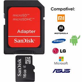 Cartão De Memória Sandisk Para Celular 16gb