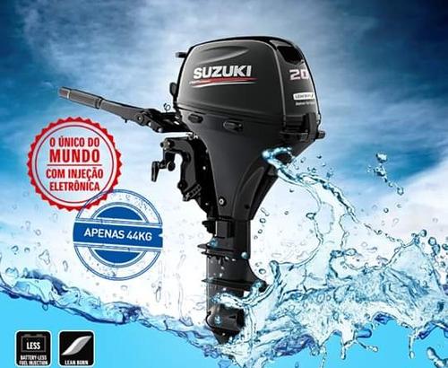 Motor De Popa 0km Suzuki 20 Hp 4 Tempos Injeçao  12 Vezes