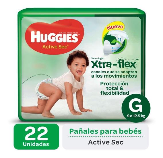 Pañales Huggies Active Sec Xtra-flex Megapack M G Xg Xxg