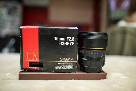 Lente Sigma 15mm F/2.8 Fisheye For Canon