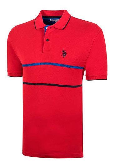 Playera Hombre Pk 92488 Us Polo Assn Rojo