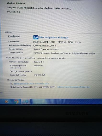 Notebook Rv411 (usado) I3 4g Ram Hd 320