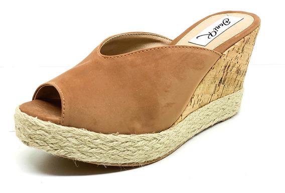 Sapatos Femininos Tamanco Anabela Marrom Dani K