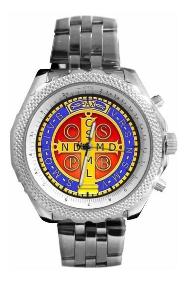 Medalha De São Bento Relógio Personalizado 5276