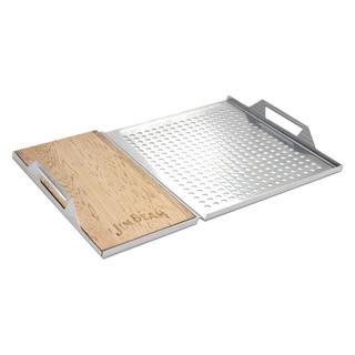 Jim Beam Bandeja Aluminio Y Cedro, (jb0162) - Barulu