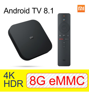 Xiao Mi Mi Box S 4k Hdr Android 8g+2g Tv Streaming Media Pla