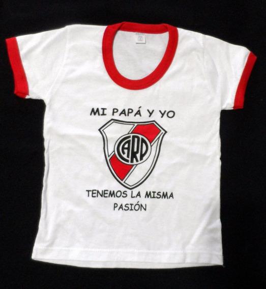 Remera River Infantil Papá Y Yo Misma Pasión Talle 6